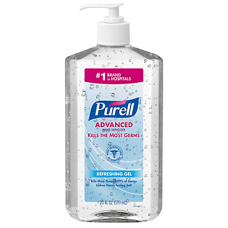Purell Instant Hand Sanitizer Dispenser 20 Oz Office Depot