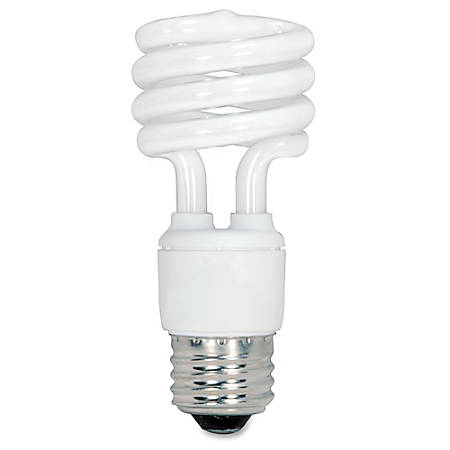 Satco Spiral T2 Fluorescent Light Bulbs 13 Watt Box Of 4 by Office ...