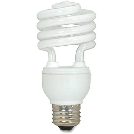 Satco® Spiral T2 Fluorescent Light Bulbs, 18 Watt, Box Of 3