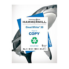 Hammermill Great White Copy Paper Letter