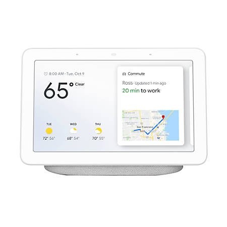 "Google Home Hub 7"" Tablet Assistant, Chalk"
