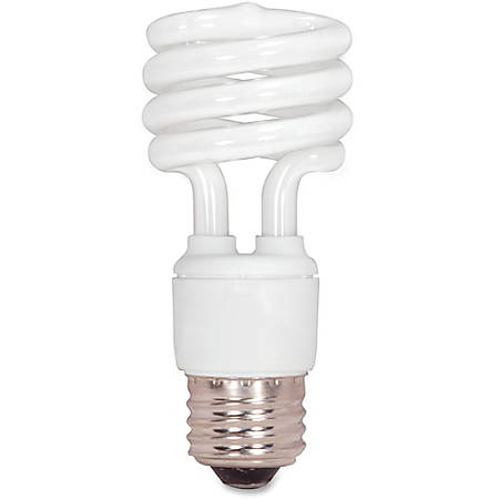 Satco T2 13-watt Fluorescent Spiral Bulb, White