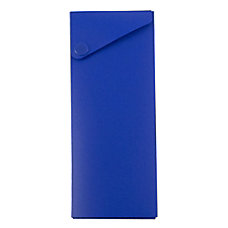 JAM Paper Plastic Slide Pencil Case