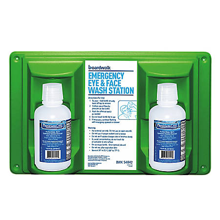 Boardwalk Emergency Eyewash Station, 16 Oz Bottles
