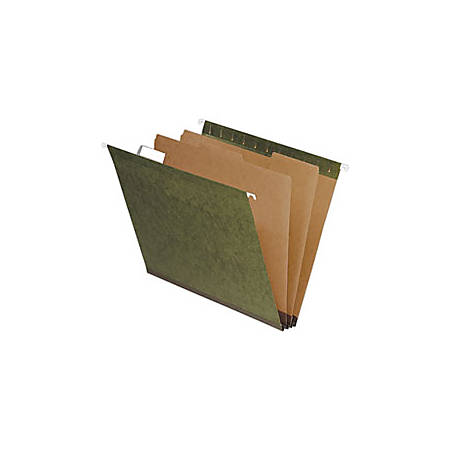 Pendaflex® Hanging File Folders With Dividers, 2 Dividers, Letter Size, Standard Green, Pack Of 10