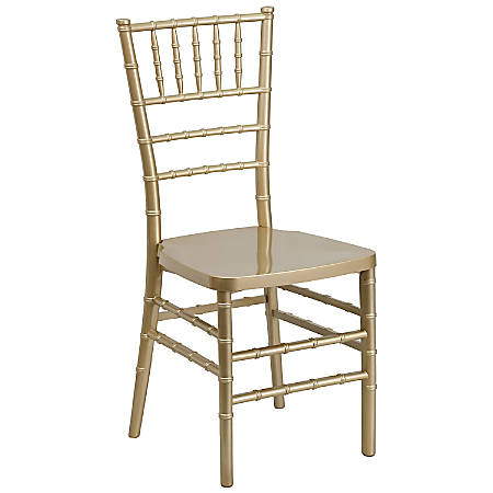 Flash Furniture HERCULES PREMIUM Series Stacking Chiavari Chair, Gold
