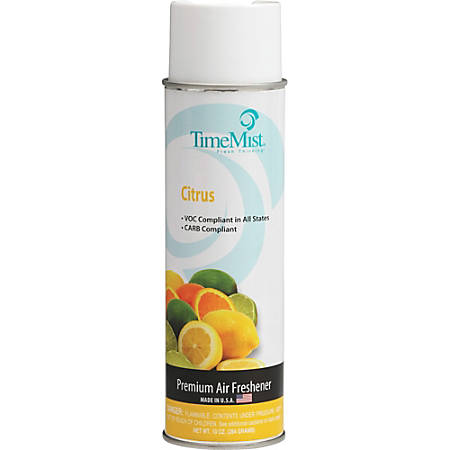 TimeMist Premium Air Freshener Scented Spray - Spray - 10 fl oz (0.3 quart) - Citrus - 1 Each - Odor Neutralizer