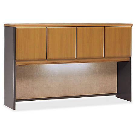 "Bush Business Furniture Office Advantage Hutch 60""W, Natural Cherry/Slate, Premium Installation"