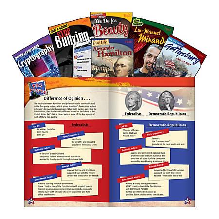 Teacher Created Materials TIME Informational Text Set, Set 1, Grade 8, Set Of 6 Books