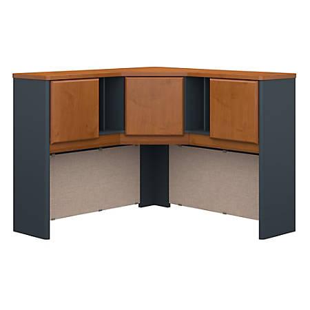 "Bush Business Furniture Office Advantage Corner Hutch 48""W, Natural Cherry/Slate, Premium Installation"