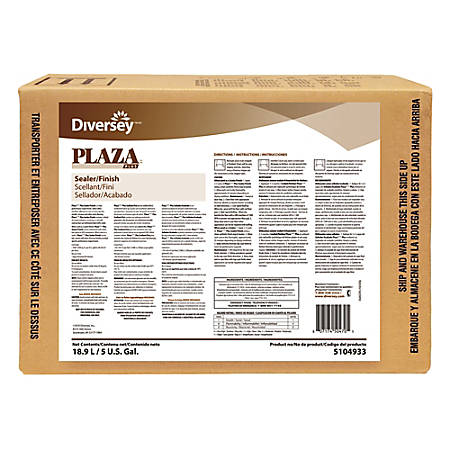 Diversey Plaza Plus Hard Surface Sealer & Finish, 5 Gallon Box