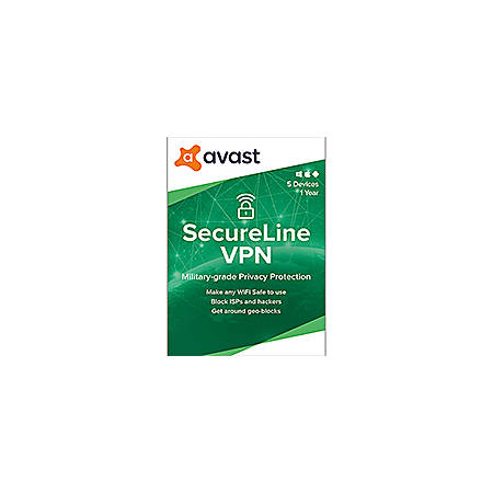 Avast SecureLine VPN 2020 | 5 Devices 1 Year | Download