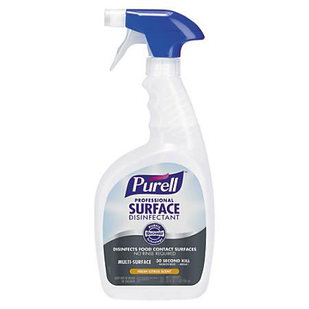 Purell® Professional Surface Disinfectant, Fresh Citrus, 32 Oz, Case Of 3