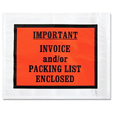 Sparco Pre labeled Important Invoice Envelopes