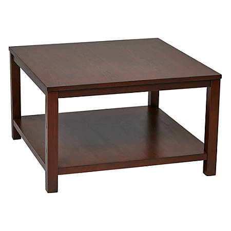 Ave Six Merge Coffee Table, Square, Mahogany