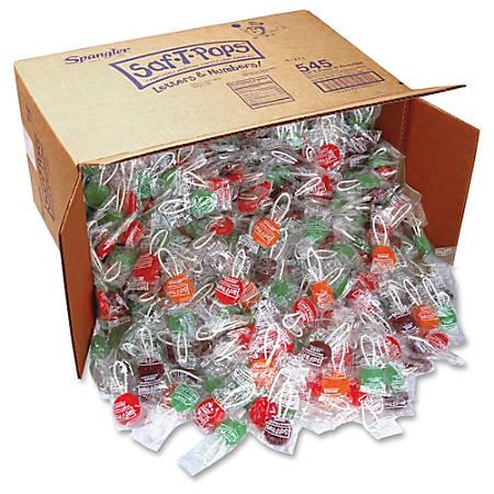 Saf-T-Pops Spangler Lollipop Candy - Apple, Grape, Cherry, Orange - Gluten-free, Individually Wrapped - 25 lb - 1 / Carton
