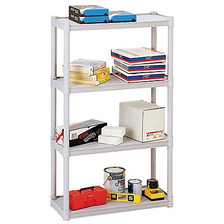 Iceberg Rough 'n Ready Storage System, 4 Shelves, Platinum