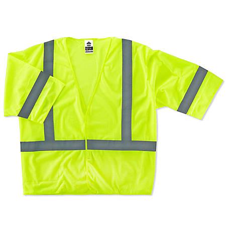 Ergodyne GloWear Safety Vest, Economy, Type-R Class 3, 4X/5X, Lime, 8310HL