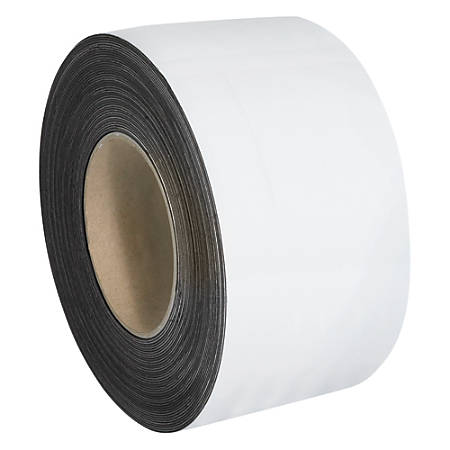"""Office Depot® Brand Magnetic Warehouse Label Roll, LH158, 3"""" x 100', White"""