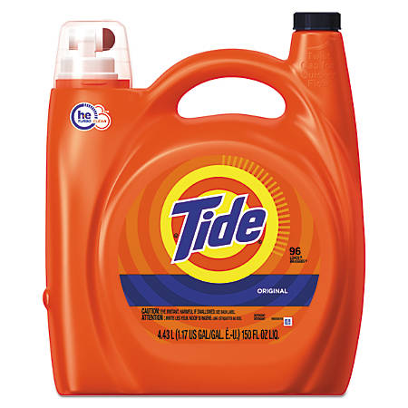 Tide® HE Laundry Detergent, Original Scent, 150 Oz, Pack Of 4