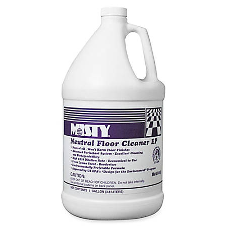 MISTY Neutral Floor Cleaner - Concentrate Liquid - 1 gal (128 fl oz) - Lemon Scent - 1 Each - Green