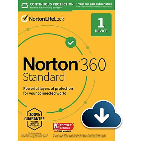 Norton 360 Standard 10GB EN 1 User 1 Device 12 Month