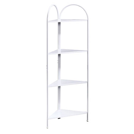 Sauder® Cottage Road Corner Tower, 4 Fixed Shelves, White