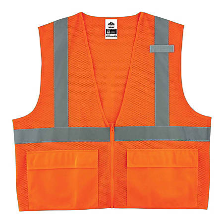 Ergodyne GloWear Safety Vest, Standard, Type-R Class 2, XX-Large/3X, Orange, 8220Z