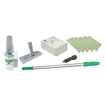 Unger SpeedClean Window Cleaning Kit, Green