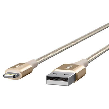 Belkin® DuraTek Lightning-To-USB Cable, 4', Gold, F8J20704-GLD