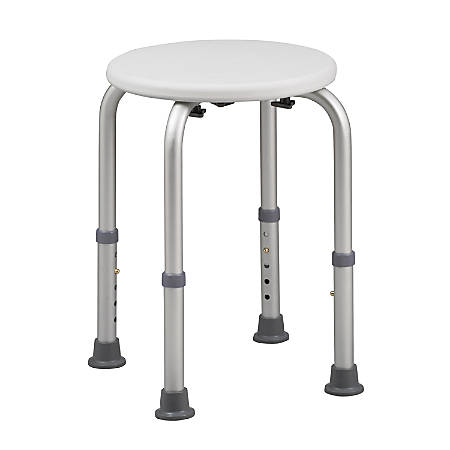 """HealthSmart® Compact Shower Stool With Germ Protection, 20""""H x 6 1/2""""W x 6 1/2""""D, White"""