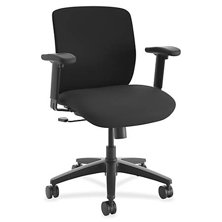 "HON ComfortSelect K3 Task Chair - Fabric Seat - 5-star Base - Black - 26.8"" Width x 30.8"" Depth x 43.5"" Height"