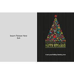 Flat Photo Greeting Card Black Tree