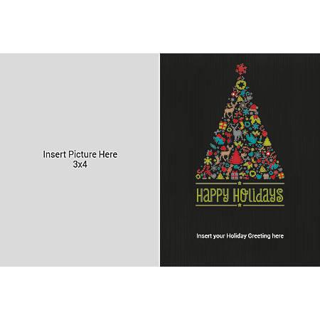 Flat Photo Greeting Card, Black Tree, Horizontal