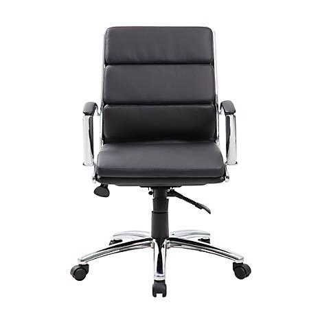 Boss CaressoftPlus™ Mid-Back Chair, Black/Black