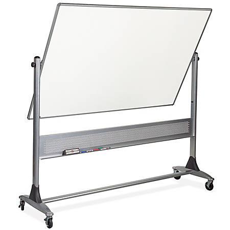 "Best-Rite® Dura-Rite Reversible Dry-Erase White Board, 48"" x 72"", Silver Frame"