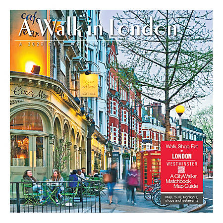 "Willow Creek Press Scenic Monthly Wall Calendar, 12"" x 12"", A Walk In London, January To December 2020"