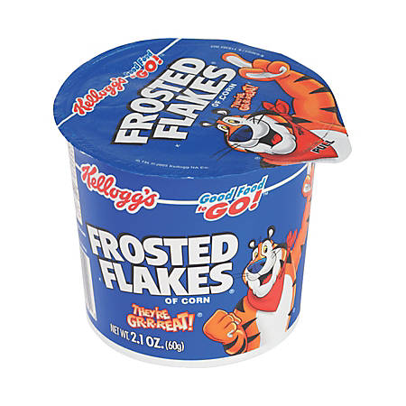 Kellogg's® Frosted Flakes® Cereal-In-A-Cup, 2.1 Oz, Pack Of 6