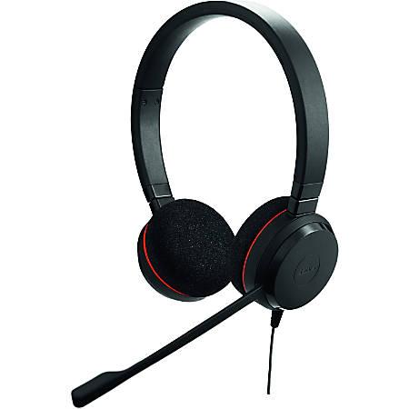 Jabra® Evolve 20 Microsoft® Lync Stereo Wired Over-The-Head Headphones