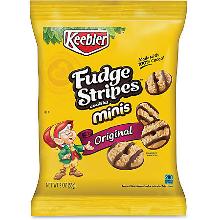 Keebler® Fudge Stripes Cookies, 2 Oz, Box Of 8