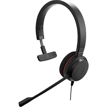 Jabra® Evolve 20 Microsoft® Lync Mono Wired Over-The-Head Headphones