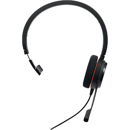 Jabra Evolve 20 UC Mono - Mono - USB, Mini-phone - Wired - Over-the-head - Monaural - Supra-aural - Noise Cancelling Microphone - Noise Canceling