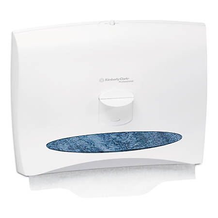 """Kimberly-Clark® Personal Seats Toilet Seat Cover Dispenser, 13 1/4""""H x 17 1/2""""W x 2 1/4""""D, White"""