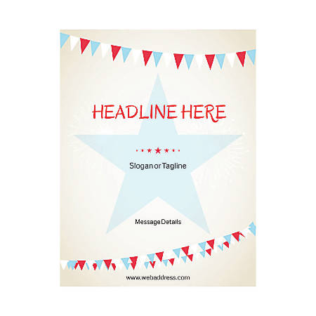 Custom Flyer, Vertical, Star With Banner