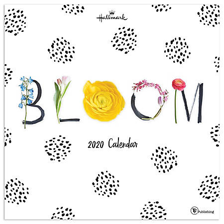 "TF Publishing Monthly Wall Calendar, 12"" x 12"", Bloom, January To December 2020"