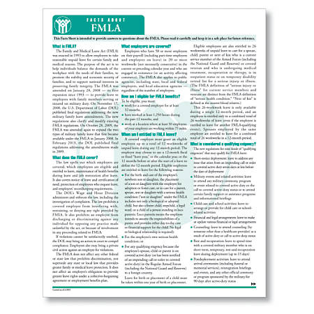 """ComplyRight FMLA Fact Sheets, 8 1/2"""" x 11"""", White, Pack Of 50"""