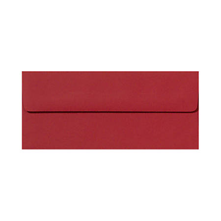"""LUX Envelopes With Peel & Press Closure, #10, 4 1/8"""" x 9 1/2"""", Ruby Red, Pack Of 50"""