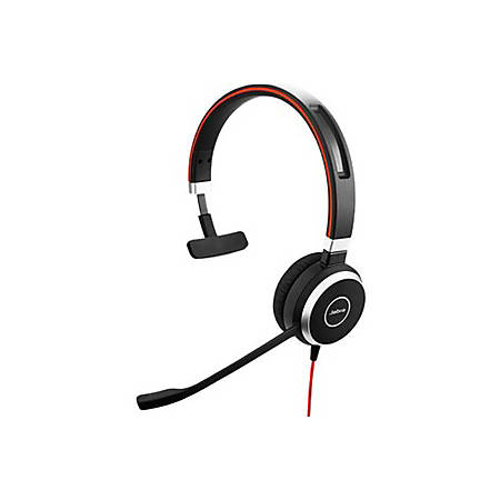 Jabra Evolve 40 Microsoft Lync Mono - Mono - USB, Mini-phone - Wired - Over-the-head - Monaural - Supra-aural - Noise Cancelling Microphone - Noise Canceling