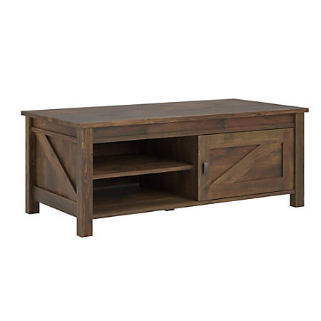 "Ameriwood™ Home Farmington Coffee Table, Rectangular, 18""H x 48""W x 24""D, Rustic"
