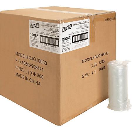 Genuine Joe 2 Oz Portion Cup Lids, Transparent, Case Of 2,500 Lids